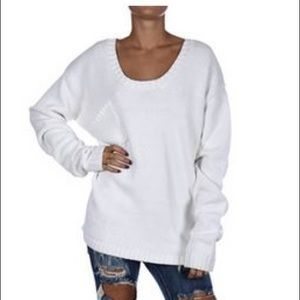 One Teaspoon Classic Chunky Cotton Knit Sweater